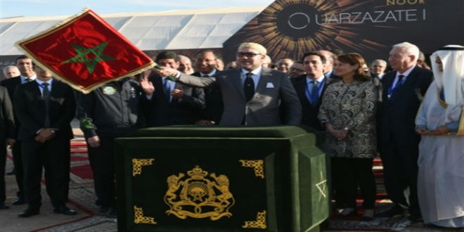 الملك محمد السادس يدشن محطة نور1 بورزازات