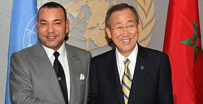 بان كيمون يجدد شكره للملك لدعمه المتواصل  لعمليات حفظ السلم في العالم