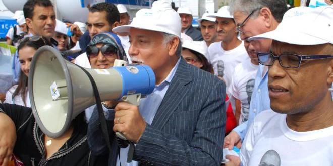 نبيل بنعبد الله وسط الحملة الانتخابية الأخيرة