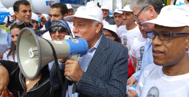 حزب التقدم والاشتراكية يعيد نشر صور  الحملة الانتخابية لزعيمه