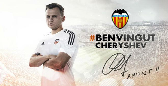ريال مدريد يقوم بإعارة تشيريشيف إلى فالنسيا
