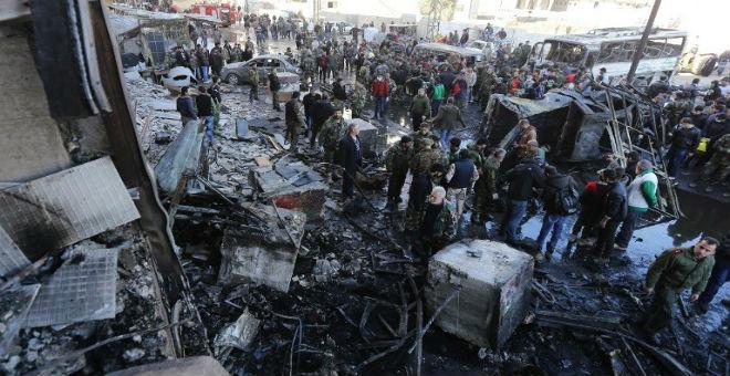 ارتفاع حصيلة تفجيرات حمص ودمشق إلى أزيد من 150 قتيلا