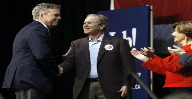 جورج بوش يعلن دعمه لشقيقه..ويهاجم دونالد ترامب