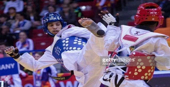 المغربي حجامي يفوز بالضربة القاضية في التيكواندو ويتأهل لأولمبياد ريو