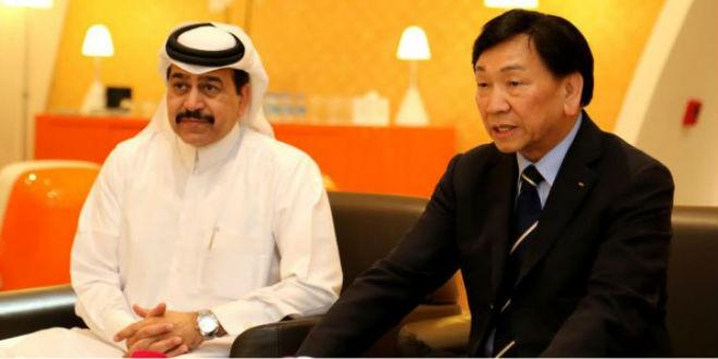 رئيس الإتحاد العربي مع رئيس الإتحاد الدولي