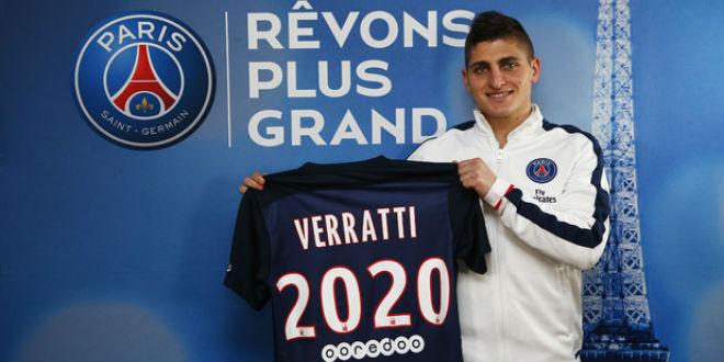 فيراتي يمدد عقده مع نادي باريس سان جيرمان