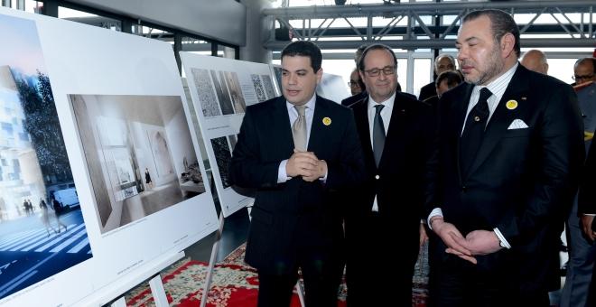 الملك يطلق معلمة ثقافية تاريخية بفرنسا