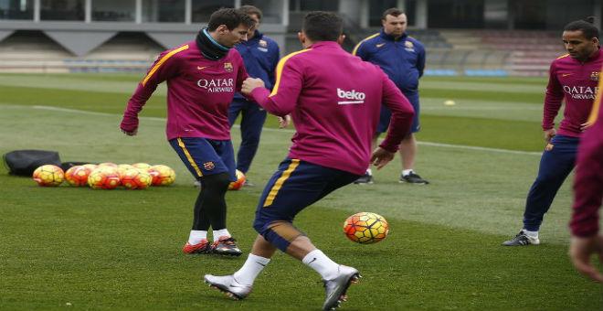 ميسي يعود لتداريب برشلونة من جديد