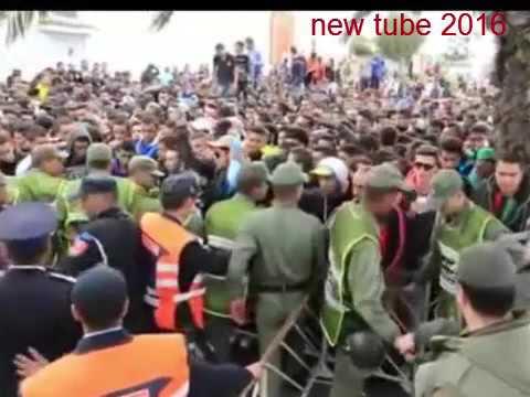 فيديو : تفاصيل أحداث شغب مباراة الوداد الرياضي والجيش الملكي