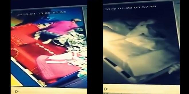 وضعت كاميرا مراقبة لخادمتها التي تنام بجوار ابنها.. فكانت الصدمة