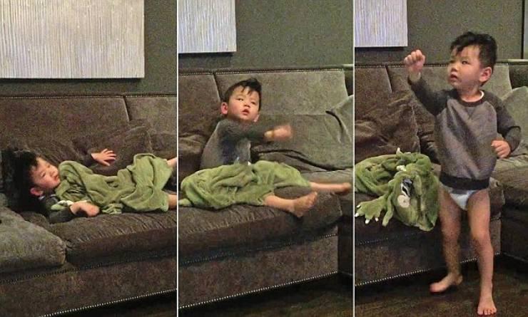 فيديو | والدان يبتكران طريقة غريبة لإيقاظ طفلهما بسرعة!