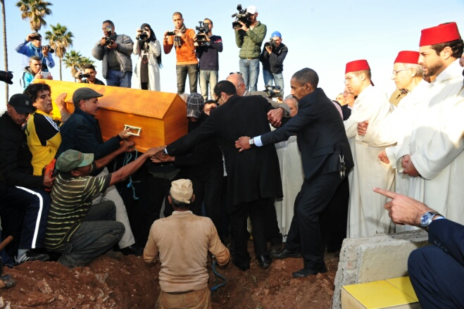 بالصور..حضور وازن في جنازة أب المسرح المغربي