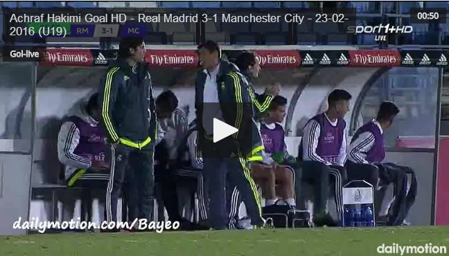 بالفيديو..حكيمي  يسجل هدفا رائعا لريال مدريد