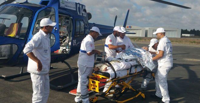إحدى عمليات الإنقاذ بواسطة مروحية جهة طنجة تطوان الحسيمة