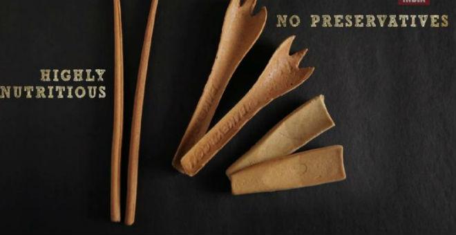 اختراع أدوات مائدة صديقة للبيئة وقابلة للأكل