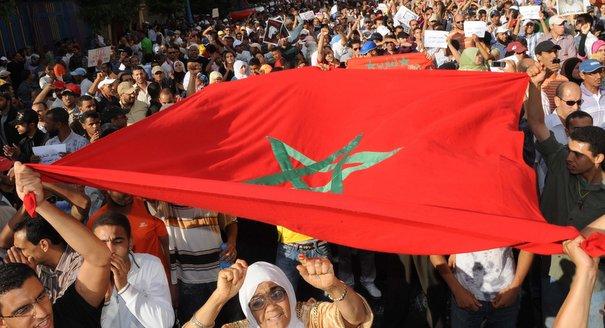 بالفيديو. المغاربة يخرجون في مسيرة مليونية للرد على بان كي مون