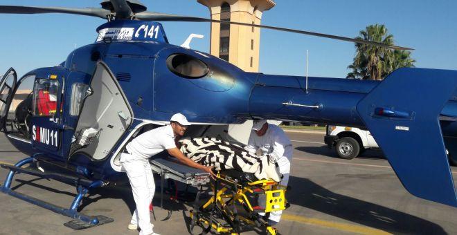 مروحية الإسعاف تنقذ  طفلا رضيعا مريضا  بنقله من العيون إلى مراكش