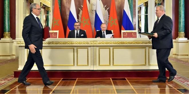الملك محمد السادس والرئيس بوتين