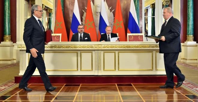 الملك محمد السادس والرئيس بوتين يرأسان توقيع اتفاقيات للتعاون الثنائي