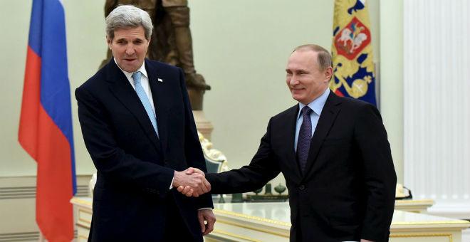 كيري يلتقي بوتين في موسكو لبحث الملف السوري