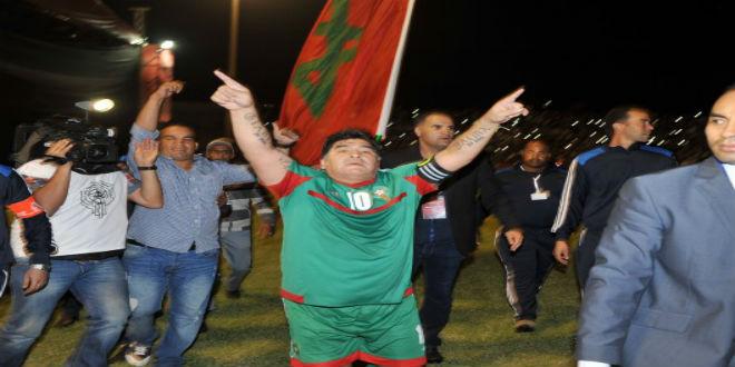 مارادونا يزور المغرب للمرة الثانية !