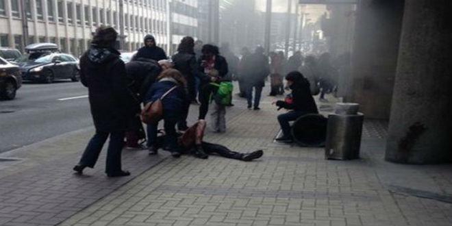 بالصور.. انفجار جديد في محطة مترو بروكسل