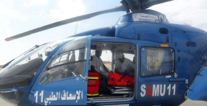 مروحية طبية تقل رجلا مسنا تعرض لأزمة قلبية من وزان إلى طنجة للعلاج