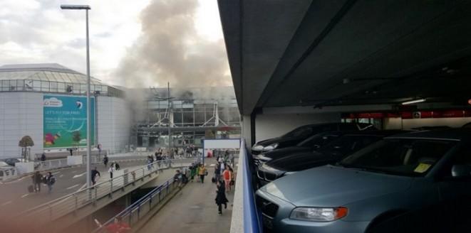 بالصور.. انفجاران في مطار بروكسيل الدولي