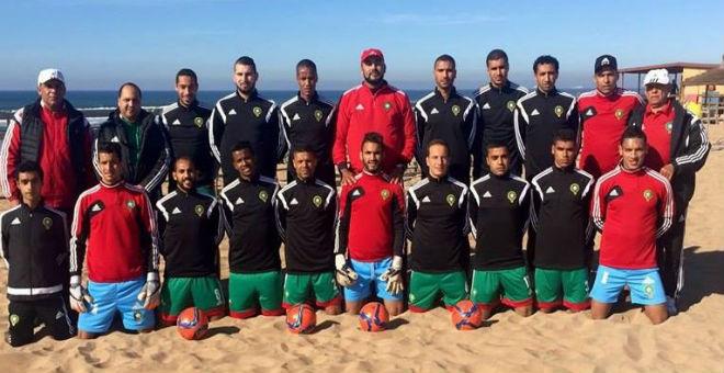 منتخب الكرة الشاطئية يستعد لمواجهة مصر