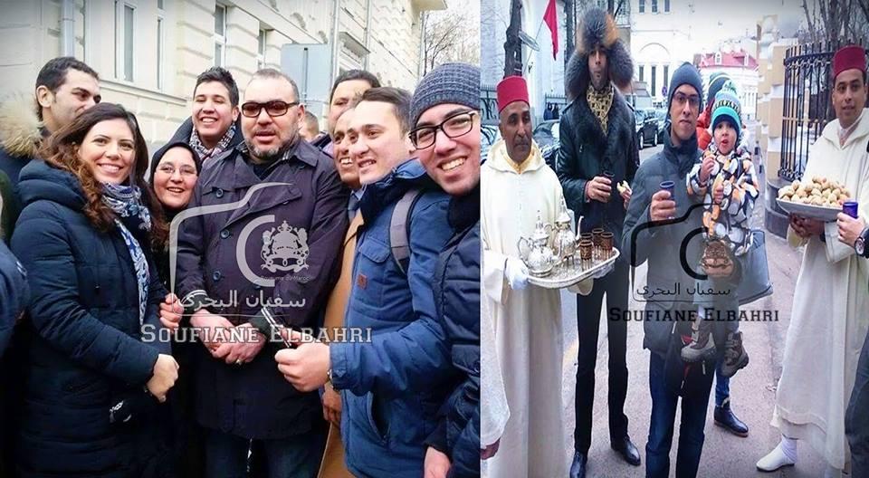 بالصور. الملك محمد السادس يأمر بتوزيع الحلوى والشاي بروسيا