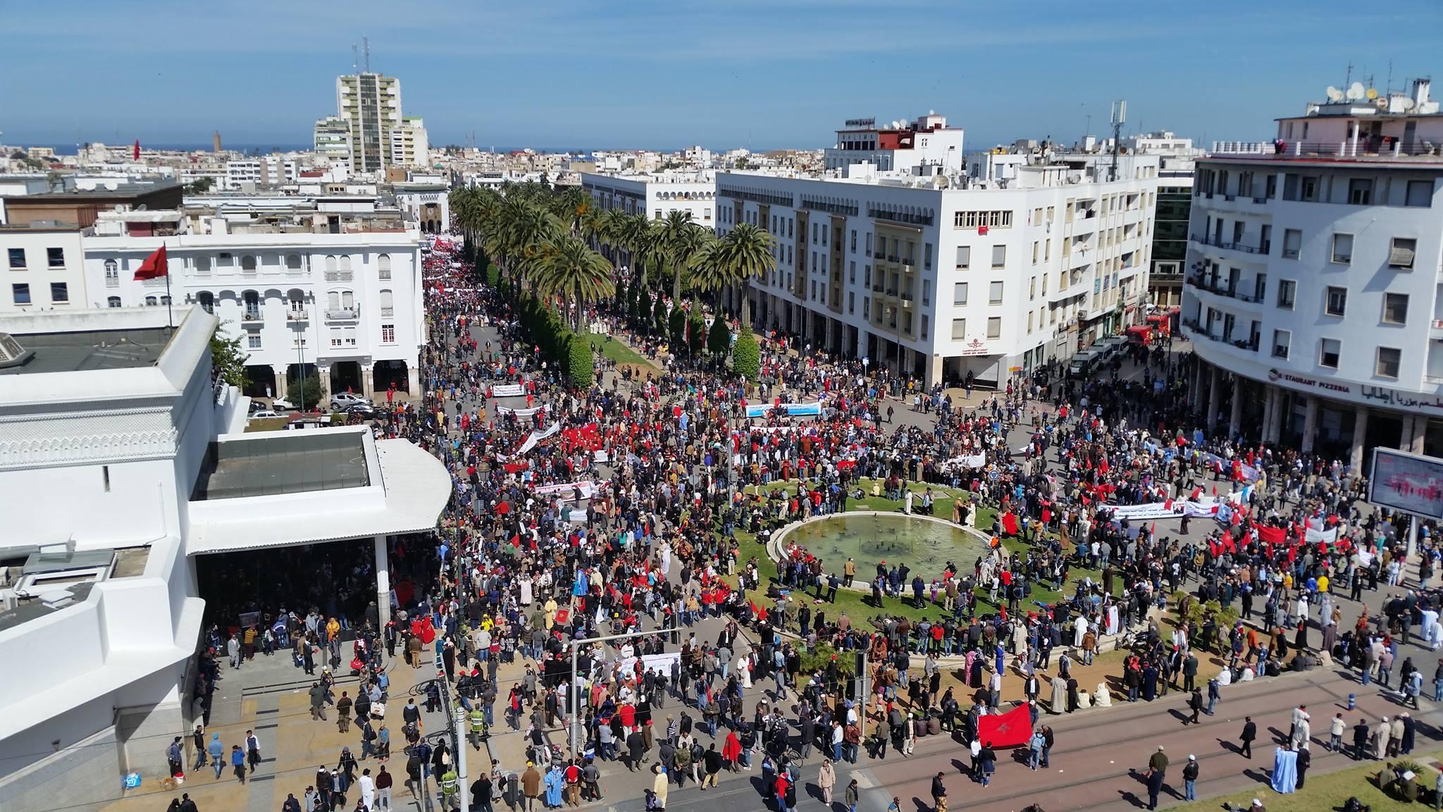 فيديو. مسيرة الرباط المليونية تنديدا بتصريحات بان كي مون