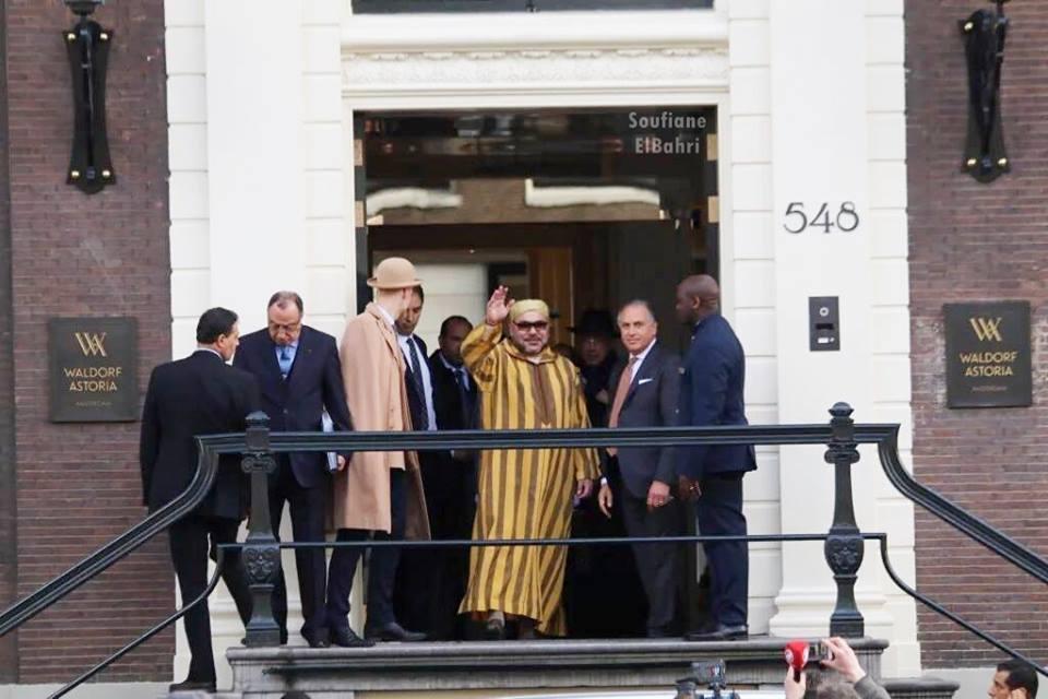 شاهد كيف ودع الملك محمد السادس أمستردام