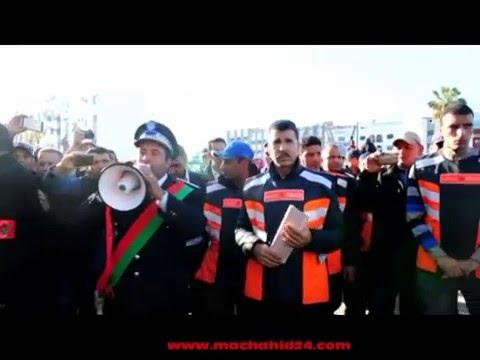 بالفيديو..تفريق مسيرة للأساتذة المتدربين دون استعمال العنف