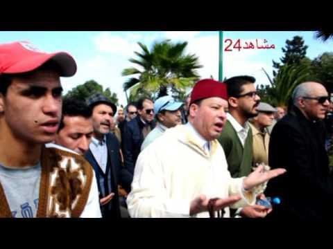 بالفيديو..وزراء وفنانون في جنازة سعيد الشرايبي
