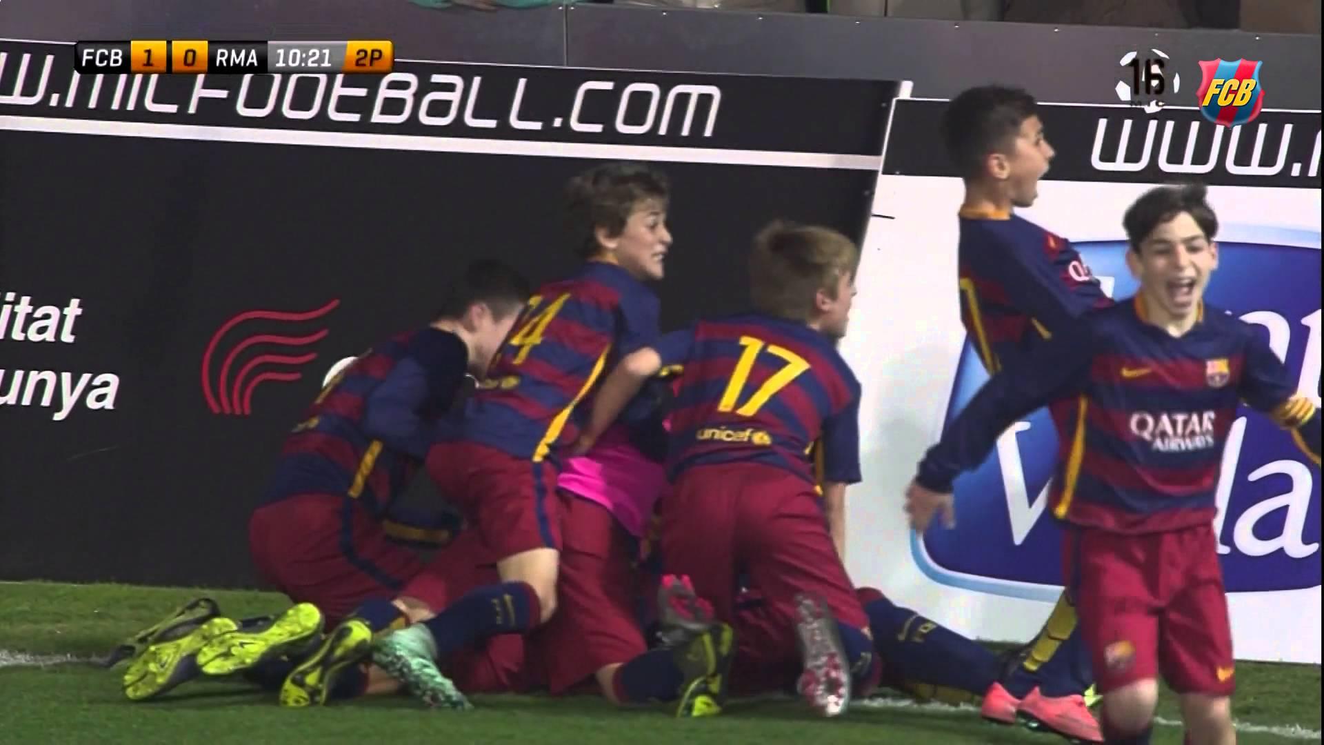 بالفيديو.. صغار برشلونة ينتصرون على الريال