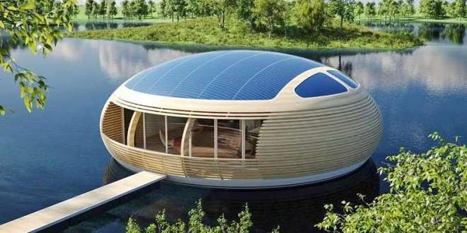 مبانٍ عائمة تعمل بالطاقة الشمسية