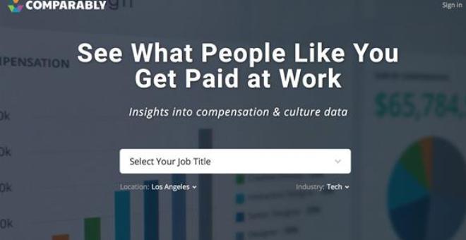 Comparably خدمة لمقارنة راتبك برواتب العاملين في نفس مجالك