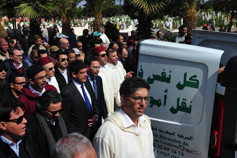 بالصور. وزراء وسياسيون وفنانون يشيعون جثمان سعيد الشرايبي