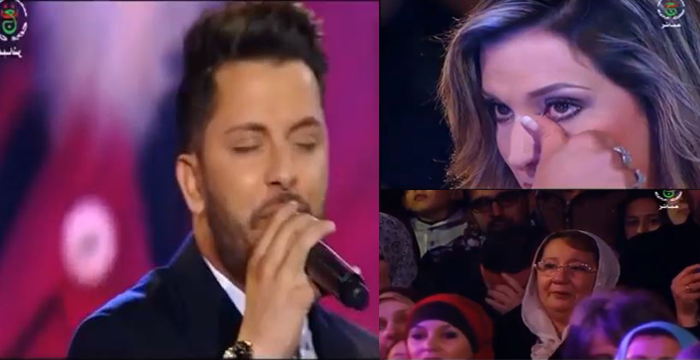 فيديو : حاتم عمور في أول ظهور له بعد وفاة والدته