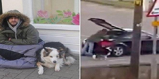 بالفيديو: متسول يغادر في سيارة فاخرة بعد نهاية عمله