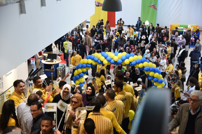 بالصور.. افتتاح متجر ''إيكيا'' في أجواء احتفالية