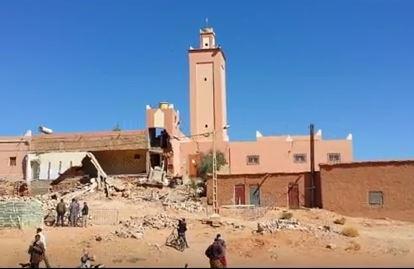 بالفيديو. مصرع عاملين في حادث انهيار مسجد بتاوريرت