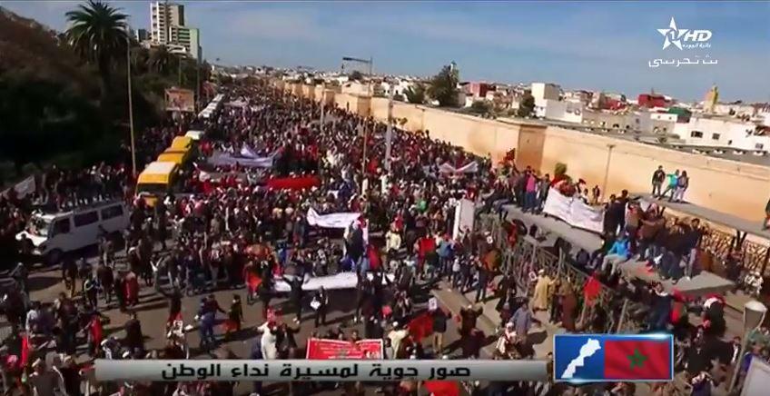 بالفيديو. تقنيات حديثة تصور 3 ملايين مغربي في مسيرة