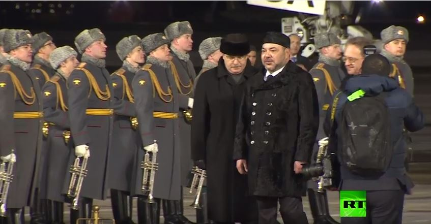 وصول الملك محمد السادس إلى روسيا