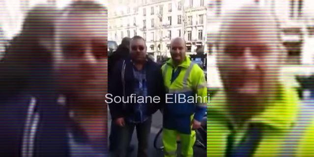 عامل نظافة مغربي يلتقط صورة مع الملك محمد السادس!