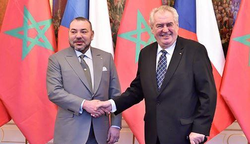 الملك محمد السادس يجري مباحثات على انفراد مع رئيس جمهورية التشيك