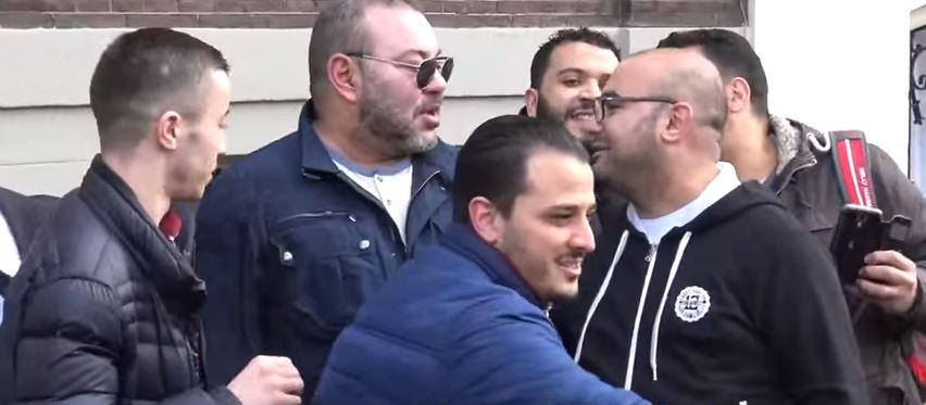 فيديو اليوم ومن زاوية أخرى للملك محمد السادس في أمستردام