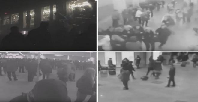 بالفيديو: انفجارات بروكسل لحظة وقوعها بكامرات مراقبة متعددة