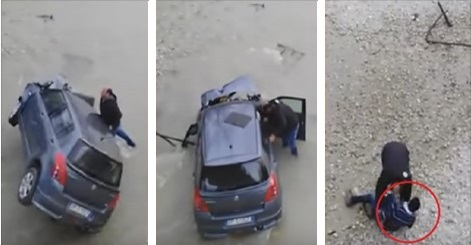 بالفيديو: تدخل بطولي لمهاجر مغربي لإنقاذ إيطالي من حادثة سير خطيرة