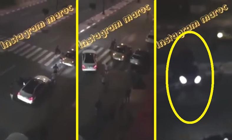فيديو خطير: لحظة دهس شاب بسيارة بعد مشاجرة في مراكش